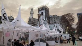 """Con un pedido de """"libertad"""" para Milagro Sala, concluyó el acampe en Plaza de Mayo"""