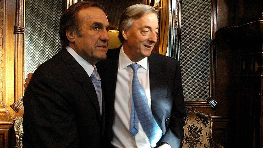 Carlos Reutemann junto a Néstor Kirchner.