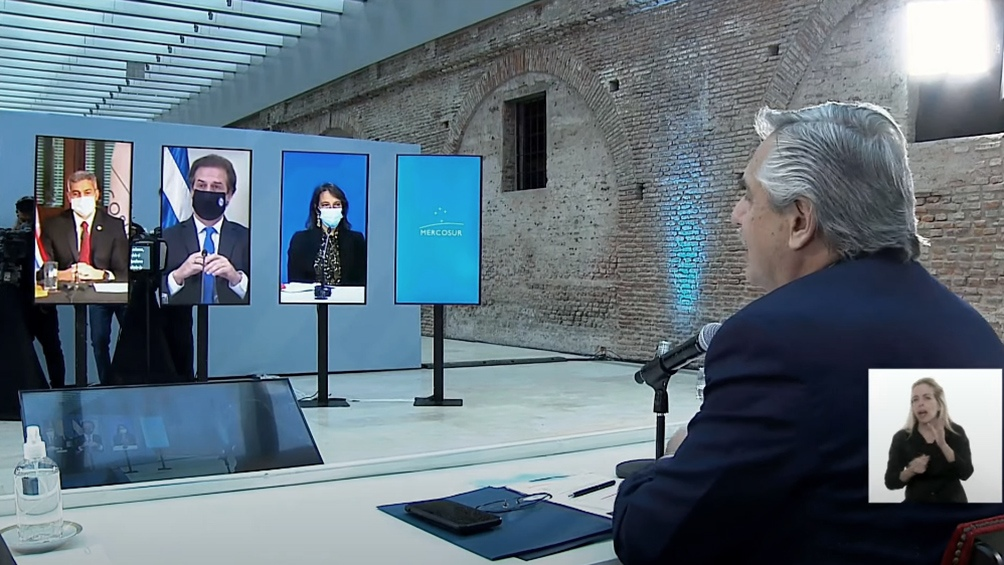 """""""El consenso es el camino más racional para preservar nuestros intereses comunes"""", dijo el presidente argentino."""