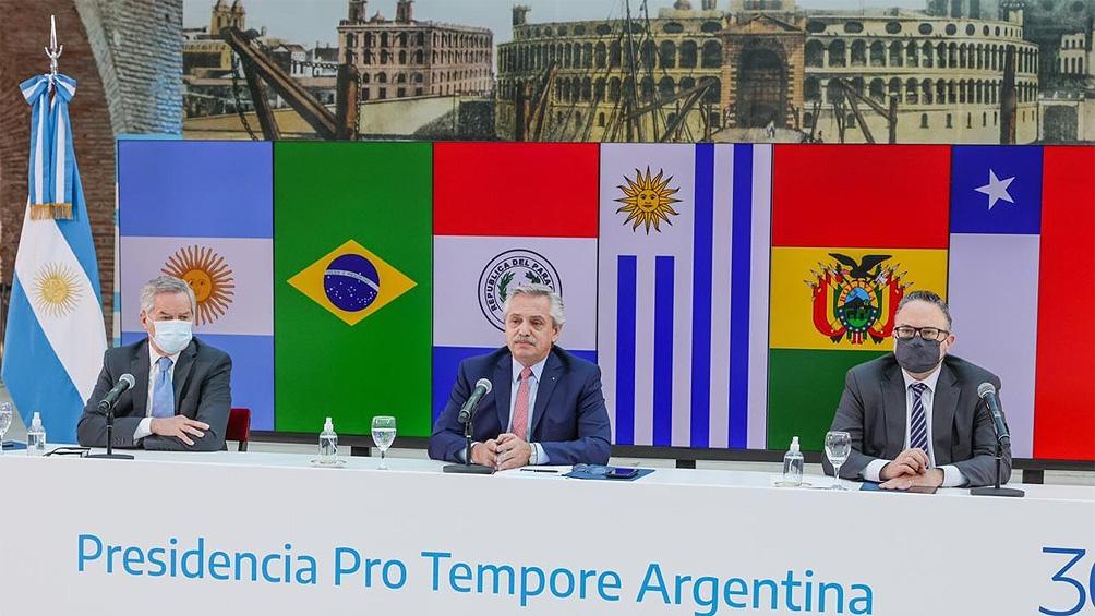 """El Presidente destacó la importancia de """"negociar juntos con terceros países o bloques y respetar la figura del consenso"""""""