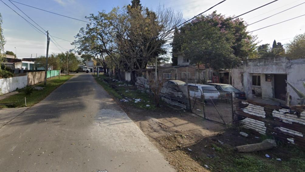 Ángel Gallardo, entre avenida Monteverde y Paraná, de Burzaco, la cuadra donde ocurrió el femicidio.