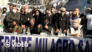 """El """"acampe"""" de Plaza de Mayo reclamó """"acciones políticas"""" para la libertad de Milagro Sala"""