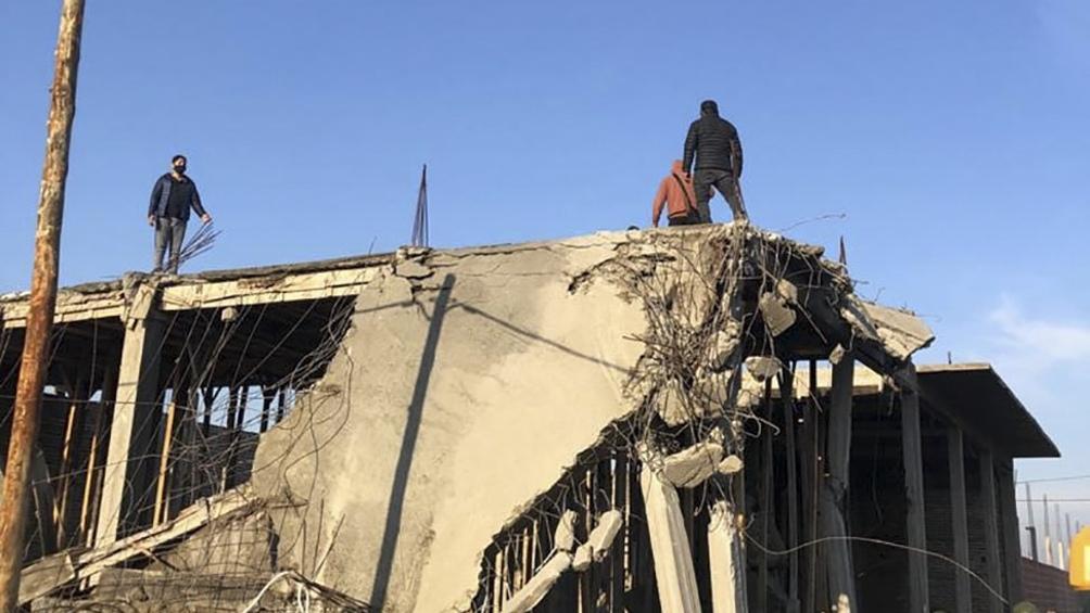 En el operativo se demolieron ocho estructuras de hormigón por riesgo de derrumbe.