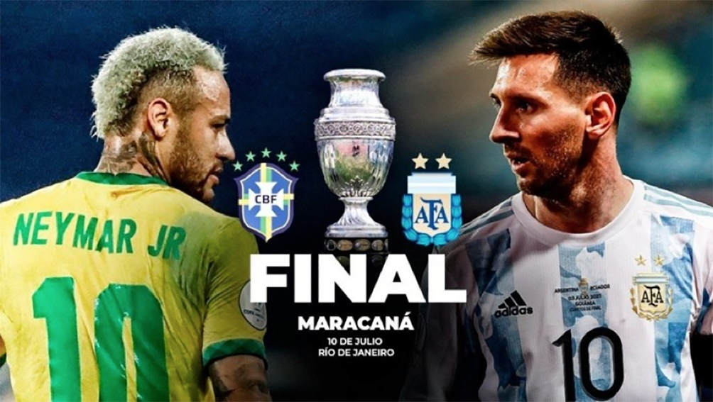 Final Copa América Argentina-Brasil.