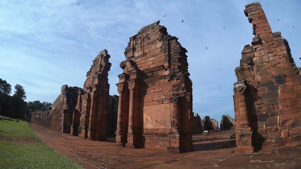 The Jesuit ruins of San Ignacio, in Misiones.