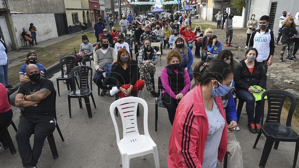 Jornada de vacunación en Lomas de Zamora. Foto: Gustavo Amarelle.