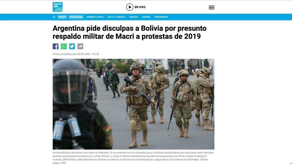Diarios europeos se hicieron eco de las revelaciones que conmovieron a Bolivia y Argentina.