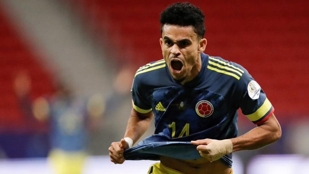 Díaz, anotó los dos tantos de Colombia en un gran torneo para el lateral (Foto:@CopaAmerica)
