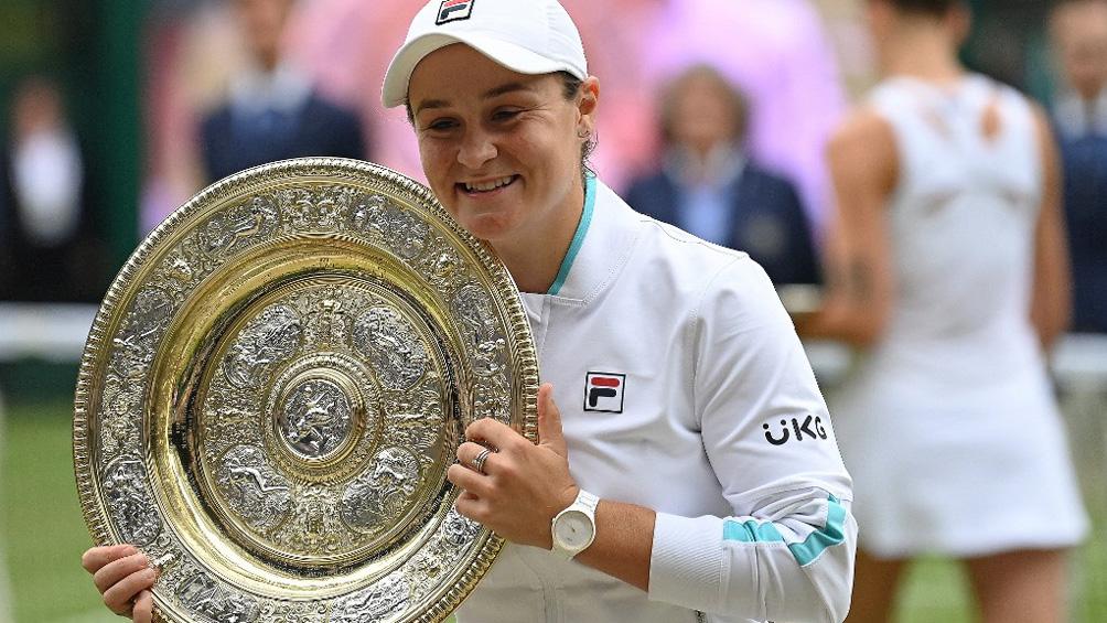 La australiana Ashleigh Barty se consagró campeona de Wimbledon