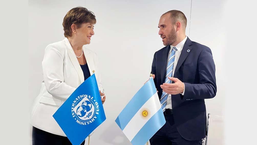 En el marco del G20 durante el fin de semana, Guzmán mantuvo un encuentro con Kristalina Georgieva.