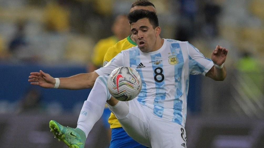 Marcos Acuña es duda ante Uruguay y analizan que recién aparezca ante Perú. Foto: @CopaAmerica