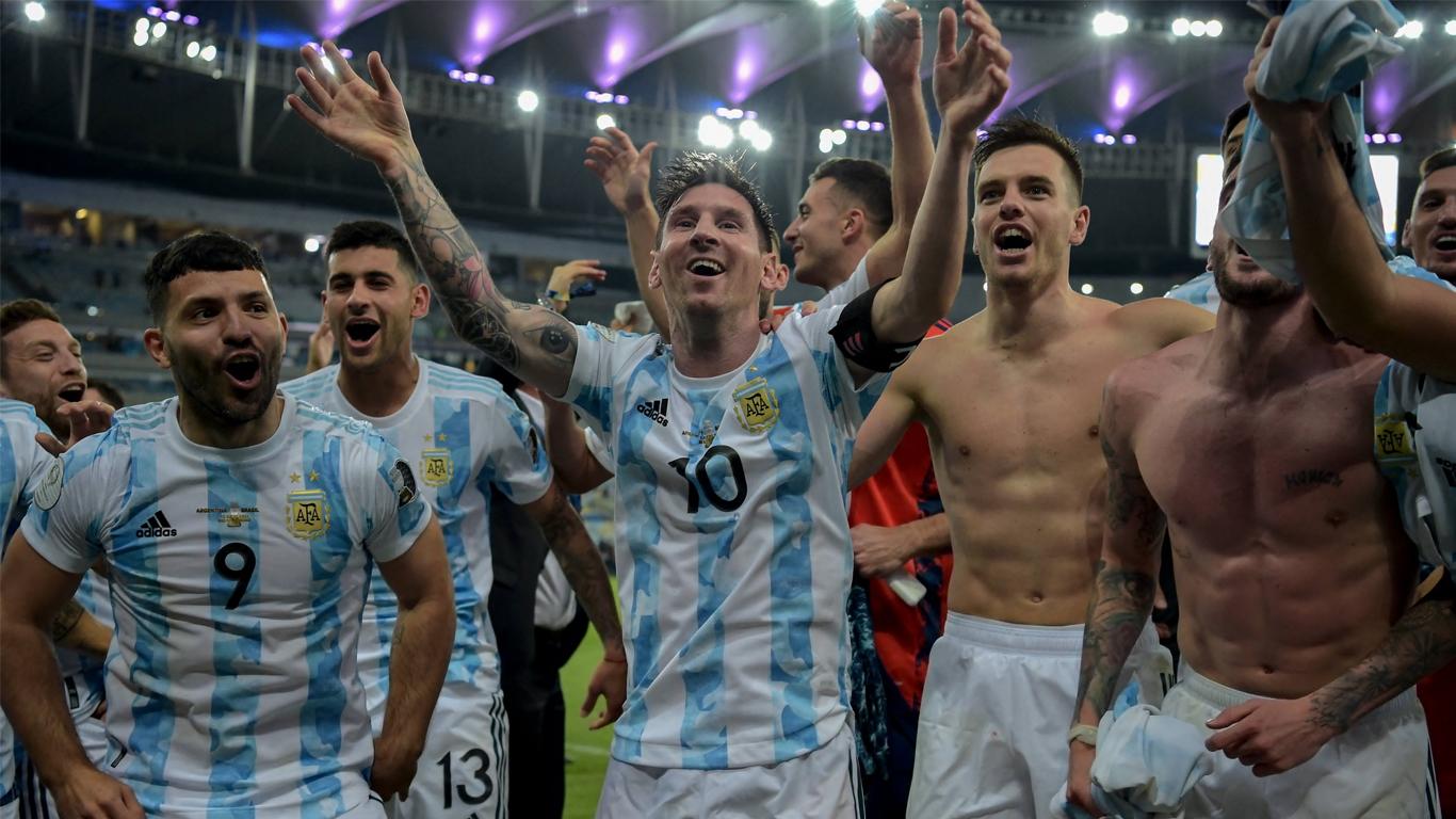 El plantel de Argentina festejó al ritmo de un nuevo hit dedicado a Brasil