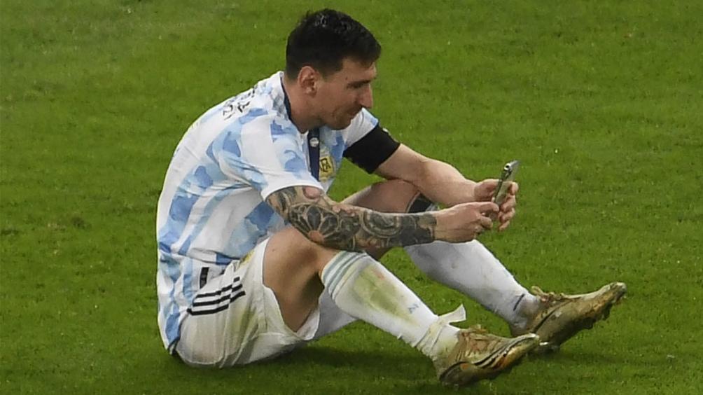 Messi celebró junto a su familia desde Brasil (Foto:@CopaAmerica)