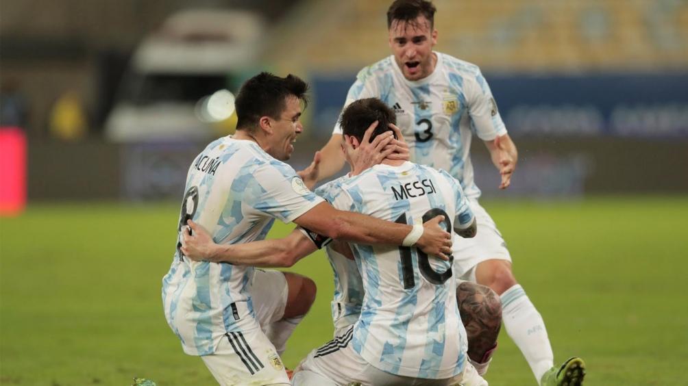 Argentina festejó en el Maracaná ante su gente que se encontraba en las tribunas del Maracaná (Foto: @CopaAmerica)
