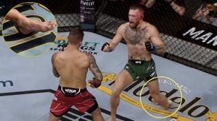 Artes marciales mixtas: Conor McGregor sufrió una impactante lesión en su pierna izquierda