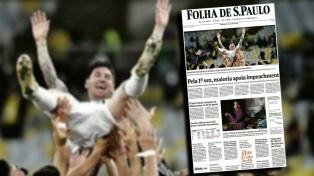 La victoria argentina en los medios brasileños