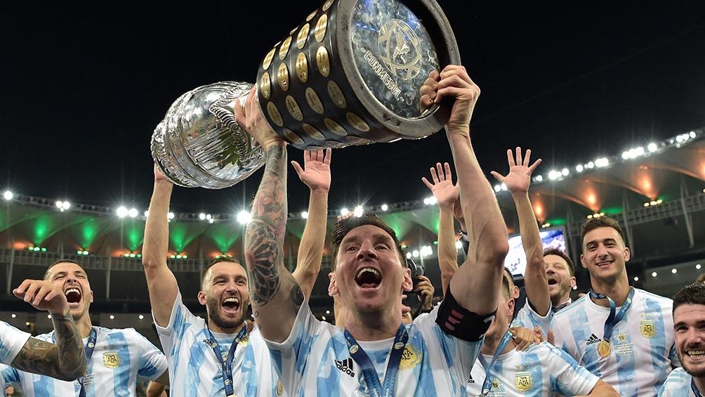 Argentina estrena el trofeo de la Copa América en Caracas ante Venezuela