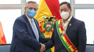Fernández y Arce condenaron el envío de material bélico a Bolivia durante el golpe a Evo