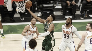 Milwaukee volvió al triunfo con un Antetokounmpo encendido ante Suns por la final de NBA