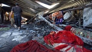 Al menos 60 pacientes murieron en un incendio en un hospital del sur de Irak