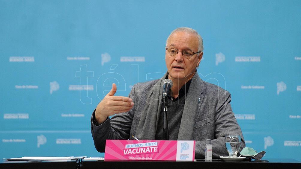 Conferencia de prensa de Daniel Gollan en La Plata. Foto: Eva Cabrera