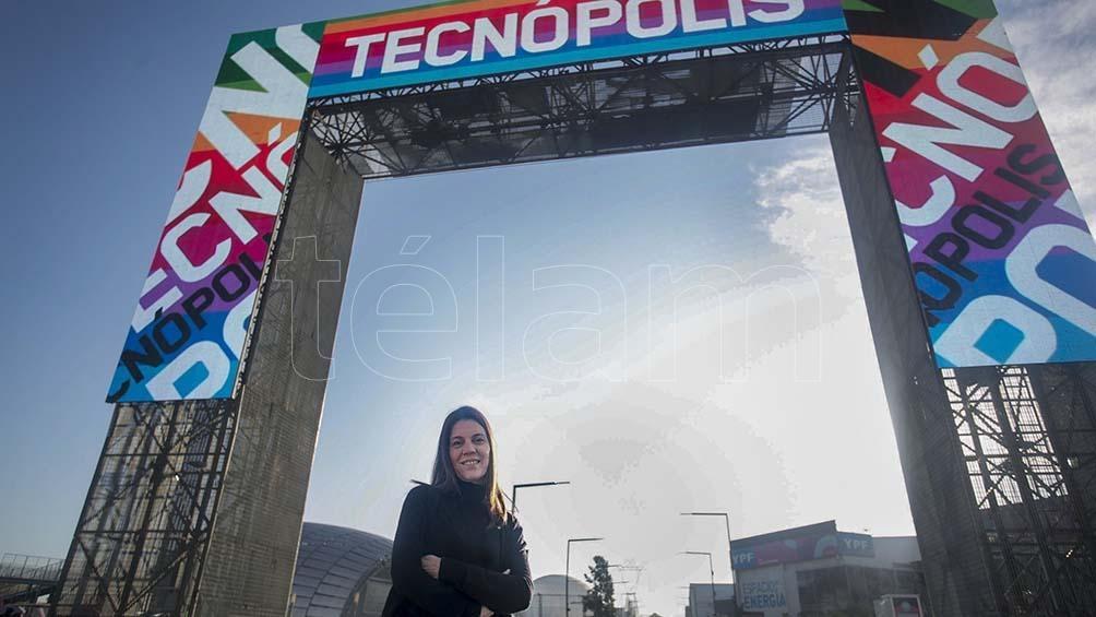 María Rosenfeldt, directora de Tecnópolis. Foto: Florencia Downes.