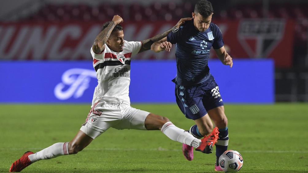 Racing empató 1 a 1 con San Pablo y quedó bien posicionado para la revancha en Avellaneda