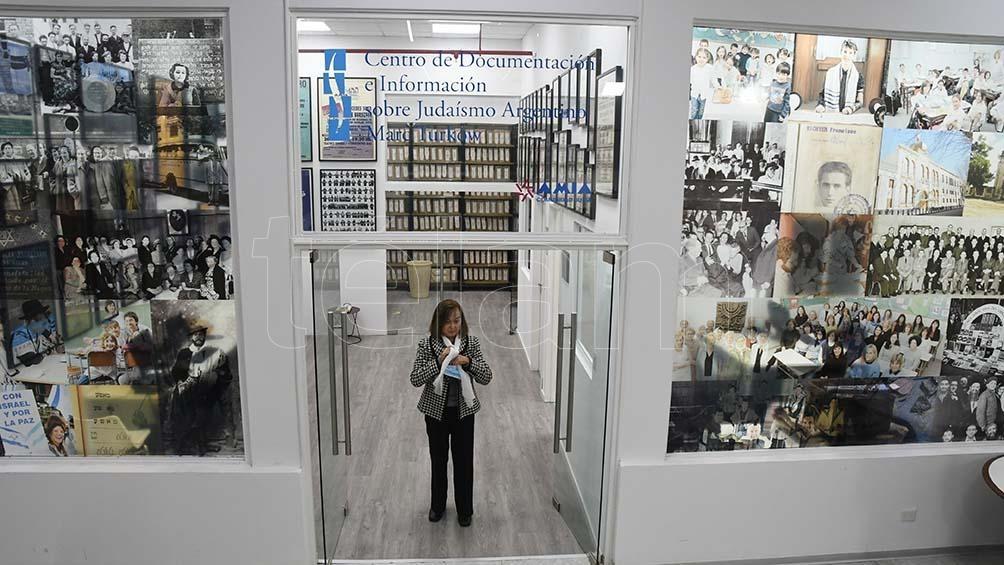 La entrada del Centro de Documentación, en el subsuelo de la AMIA. (Foto: Pablo Añeli)