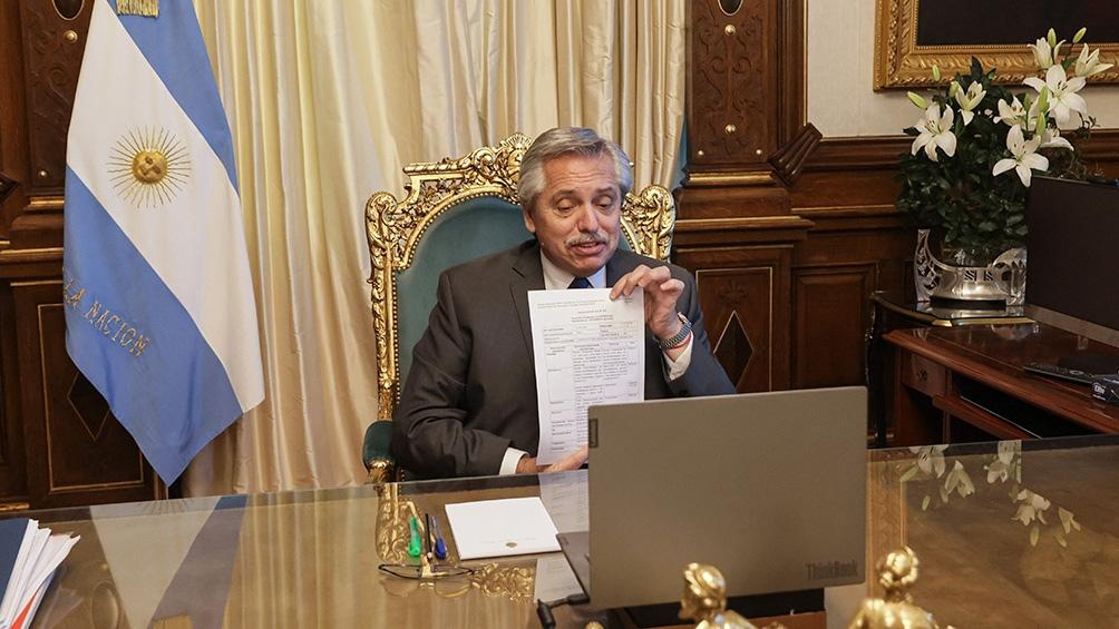 Videoconferencia de Alberto Fernández con el titular de laboratorios Richmond.