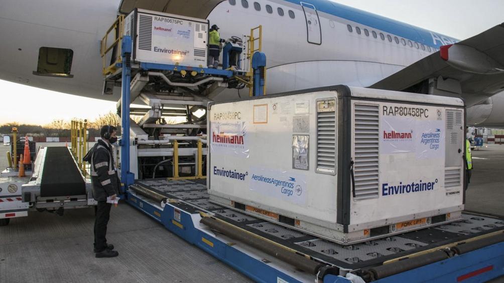 La empresa completó 12 vuelos a Beijing en los que se trasladaron 9.035.200 dosis de Sinopharm.
