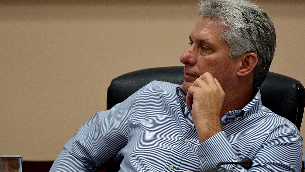 Miguel Díaz-Canel pidió dar marcha atrás con las sanciones de Donald Trump y terminar con el embargo. Foto: AFP.