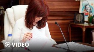 "Cristina Kirchner consideró ""disparate judicial, institucional y político"" a la causa del memorándum"