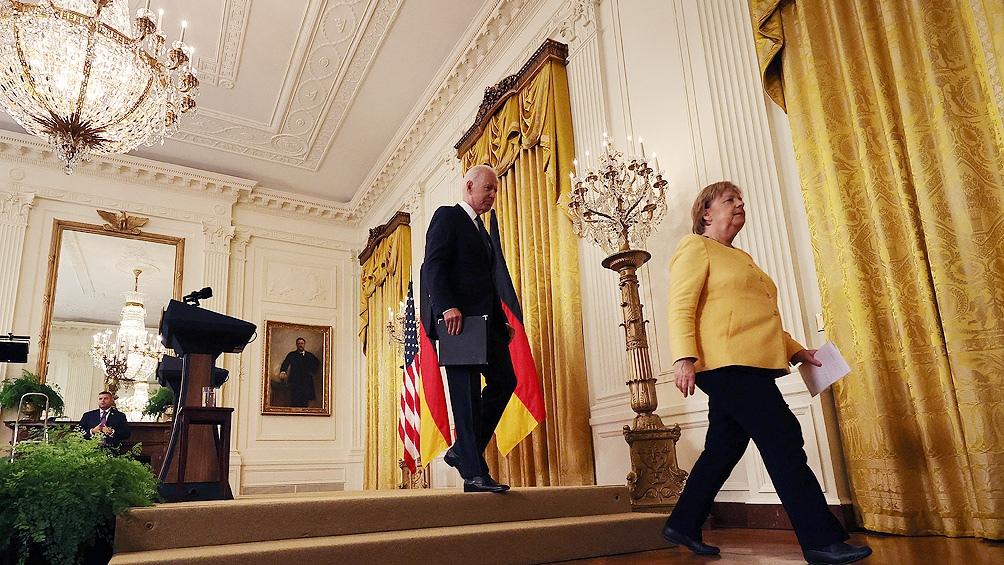 مرکل با رئیس جمهور آمریکا ، جو بایدن دیدار کرد