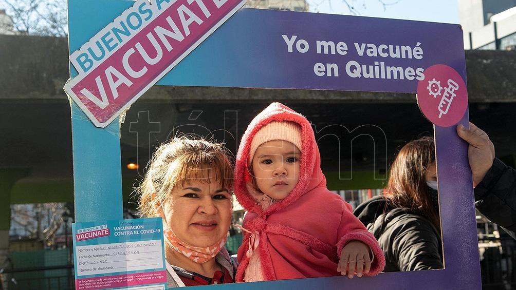 """La ministra Vizzotti detalló que """"si se tiene en cuenta a  mayores de 50 años, el porcentaje de vacunados con la primera dosis supera el 85%"""".Foto: Victoria Egurza."""
