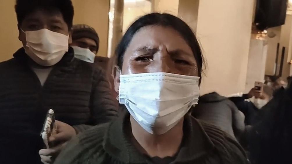 María Condori, madre de Rudy Cristian Vásquez Condori, de 23 años. Fue asesinado en Senkata.
