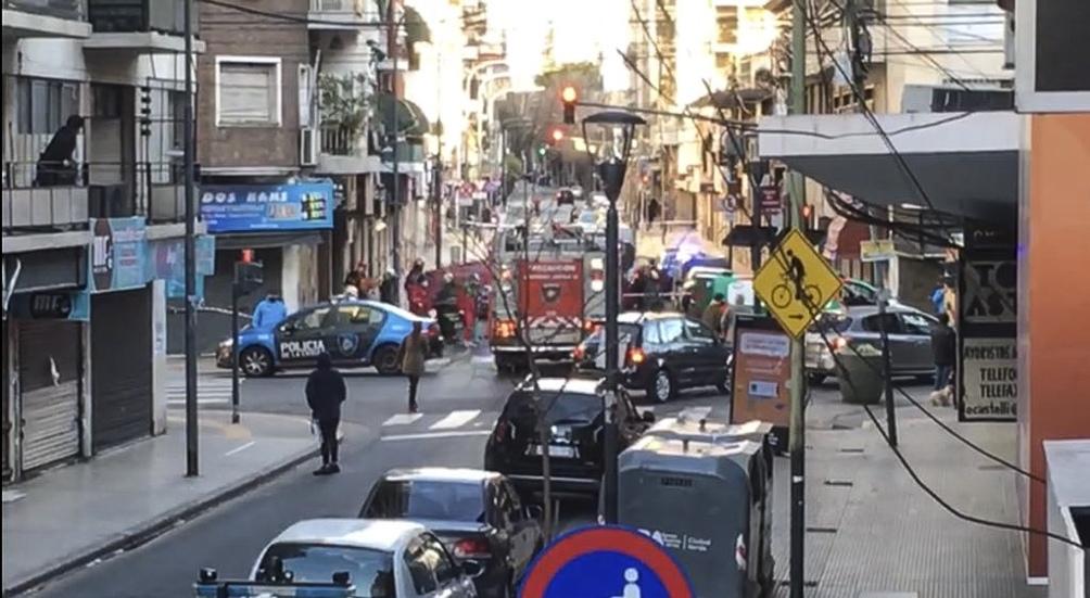 El trágico hecho ocurrió en la calle Castelli al 100 (Foto: Twitter).