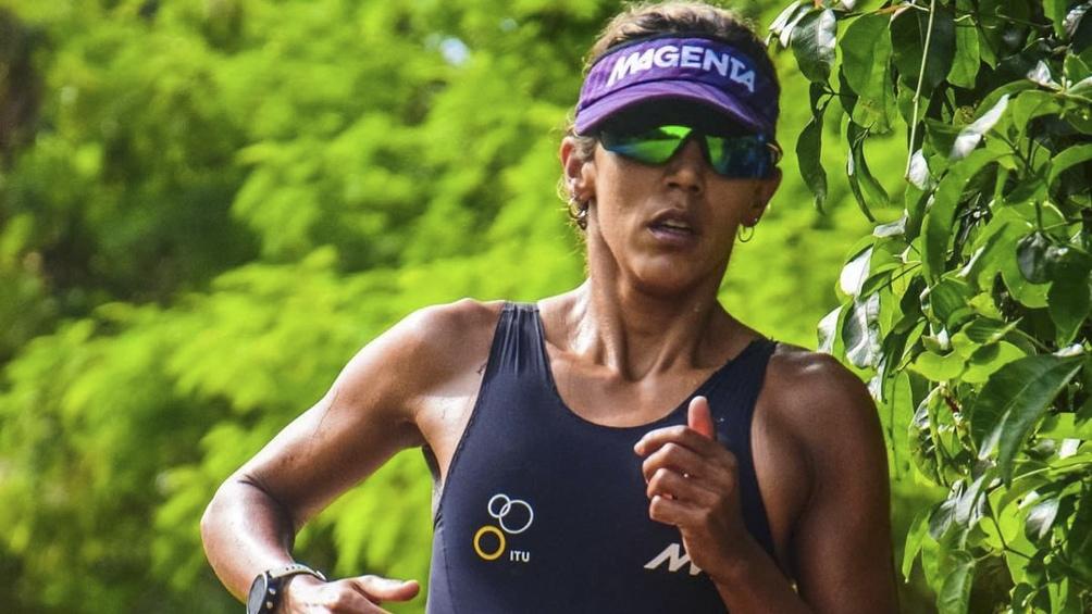 La representante argentina Romina Biagioli finalizó en el 33er. lugar de la competencia de triatlón femenino .