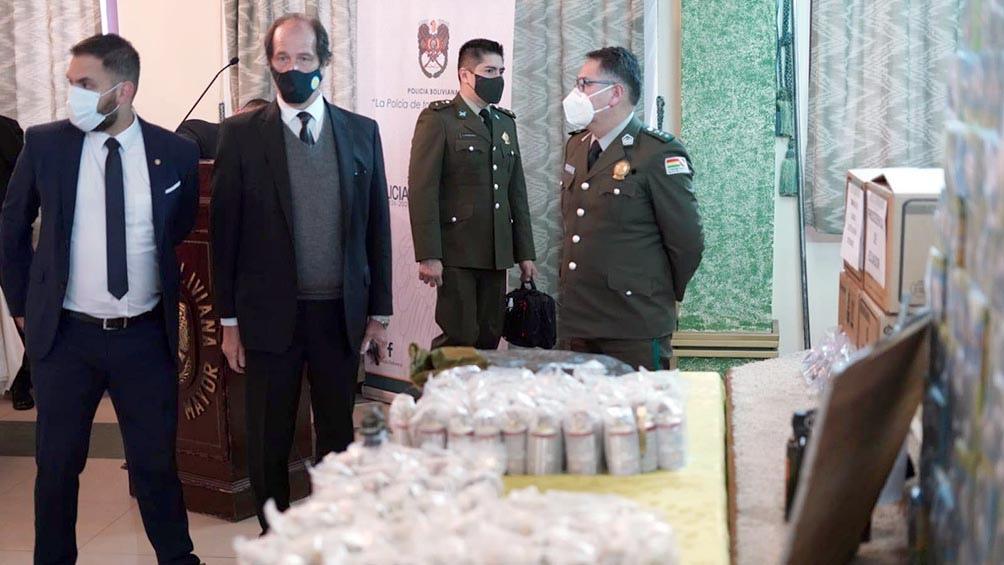 """Frederic: """"esta comprobado"""" que el material enviado a Bolivia fue comprado por Bullrich"""