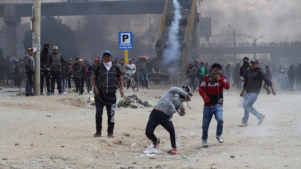 El envío se produjo en el momento en el que se inició la represión tras el golpe contra Evo Morales.