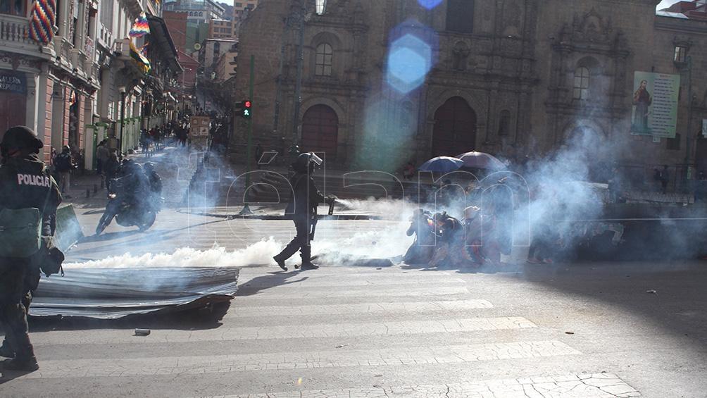 La investigación de la justicia boliviana ha demostrado que las municiones enviadas desde Argentina se destinaron a reprimir las protestas tras el golpe de Estado. (Foto: Pablo Añeli).