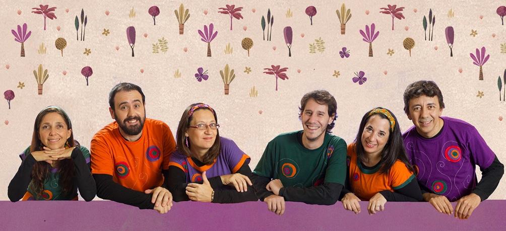 El grupo santafesino  protagonista de un show en el centro porteño.