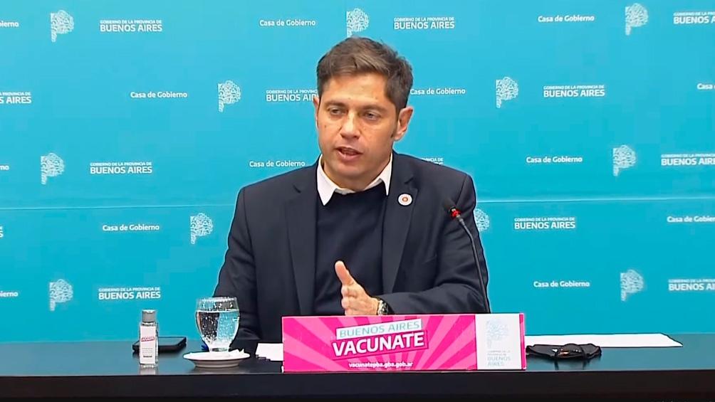 Kicillof dio una conferencia de prensa sobre la situación epidemiológica.