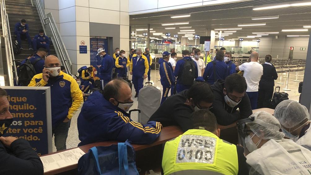 Incidentes entre jugadores de Boca y la policía luego del partido