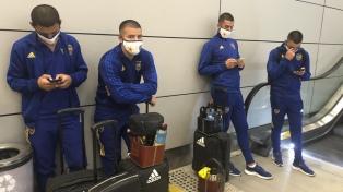 Ocho miembros de la delegación de Boca, demorados en Brasil