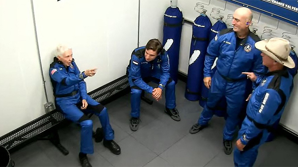 """""""Dije que quería ser astronauta. Pero nadie quería llevarme. No pensé que alguna vez iría allí"""", contó la aviadora."""