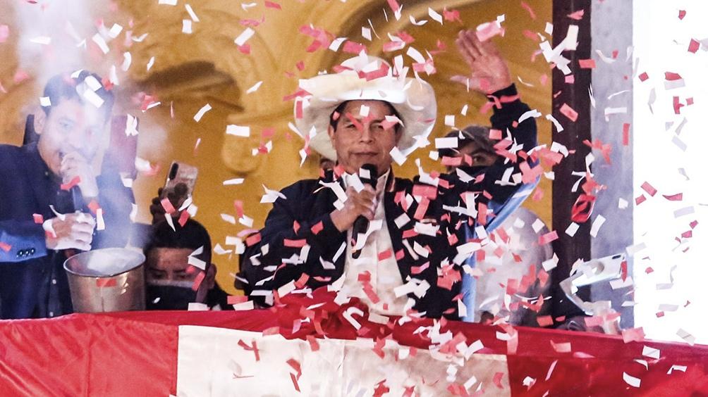 Pedro Castillo, el docente rural y sindicalista que alcanzó la Presidencia de Perú.