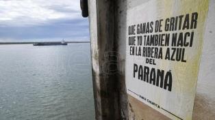 """La bajante del Río Paraná """"es un auténtico holocausto ambiental"""""""