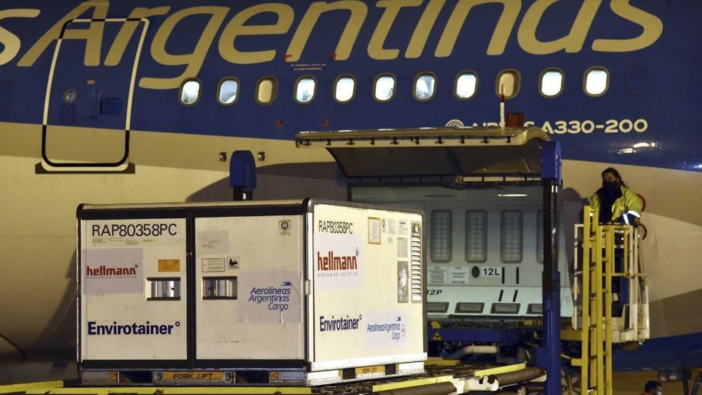 Argentina se acerca a los 40 millones de dosis recibidas.