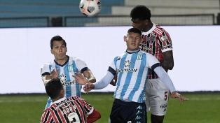 Racing perdió 3 a 1 ante San Pablo y se despidió de la Libertadores