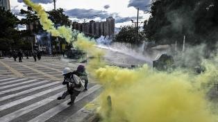 La Policía colombiana detuvo a 70 personas en las protestas del martes